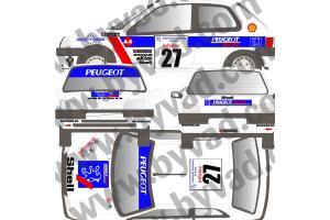 Kit déco Peugeot 106 TOUR DE CORSE 94