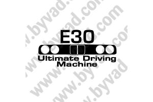 Sticker BMW E30 Ultimate Driving Machine