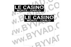 2 Fonds de portière CASINO MONTE CARLO