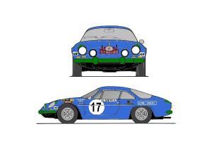 Kit déco Alpine A110  Monte Carlo 1972