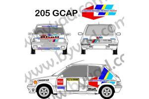 Kit déco Peugeot 205 GCAP 1991