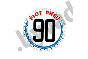 Sticker 90 pneus piot