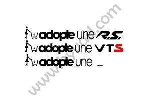 """Sticker """"adopte une ..."""""""