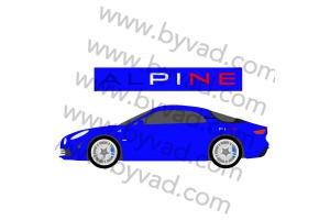 "2 Stickers alpine ""france"""