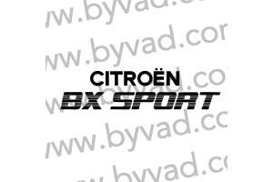 2 Stickers Arrière BX Sport