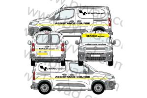 Kit déco Assistance Renault Sport taille S (Kangoo, Partner, Berlingo)