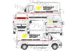 Kit déco Assistance Renault Sport RS 16 taille L (Master, Sprinter, Boxer, Ducato...)