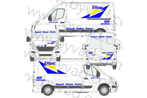 Kit déco Assistance Renault Sport DIAC taille L (Master, Sprinter, Krafter, Boxer ..)