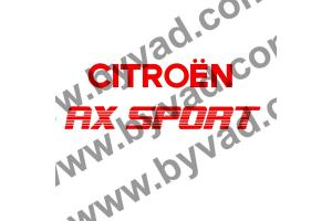 2 Stickers Arrière AX Sport