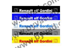 Bandeau pare soleil Renault Elf Gordini
