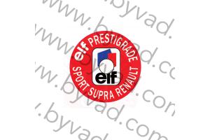 Sticker pour bouchon d'huile ELF PRESTIGRADE