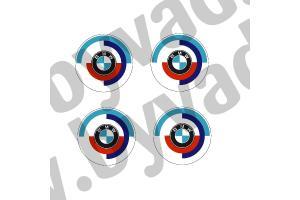 Kit de 4 stickers centre de roue BMW 1980