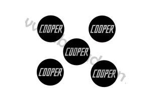 Kit 5 Stickers de Jantes COOPER