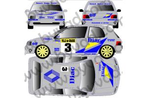 Kit déco Clio Diac - GRASSE ALPIN 1991 - Ragnotti Thimonier