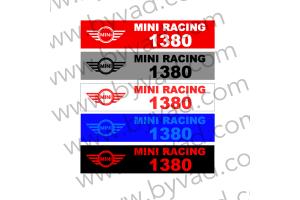 Cache plaque immatriculation Mini Racing 1380