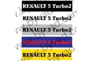 Cache plaque immatriculation Renault 5 Turbo 2