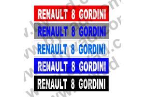 Cache plaque immatriculation Renault R8 Gordini