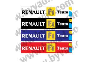 Cache plaque immatriculation Renault Sport R25 F1 Team