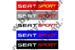 Cache plaque immatriculation Seat Sport