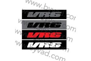 Cache plaque immatriculation Volkswagen VR6