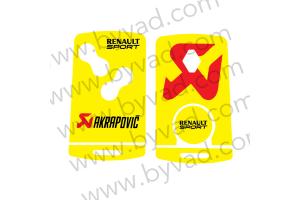 Sticker carte Renault 4 boutons Renault Sport Akrapovic