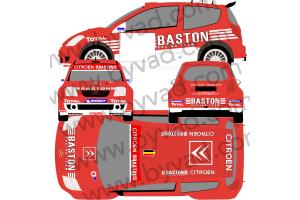 Kit déco rallye Citroen C2 Super 1600 BASTON