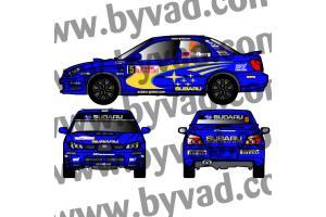 Kit déco SUBARU IMPREZA WRC Monte Carlo 2006 version FLUO