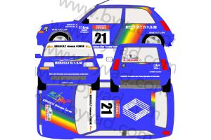 Kit déco R5 GT Rallye Tour de Corse 1990