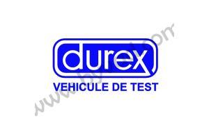 Sticker  Durex Véhicule de test
