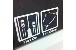 Sticker Fast car Fast Driver
