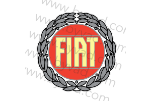 Sticker logo fiat 1980
