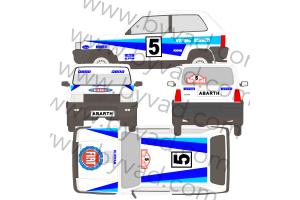 Kit déco Fiat Panda 4x4 Rallye Monte Carlo 1983