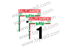 2 Fonds de portière RALLYE SAN REMO 1987