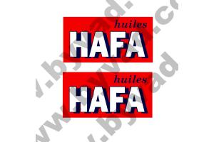 2 Stickers huiles HAFA