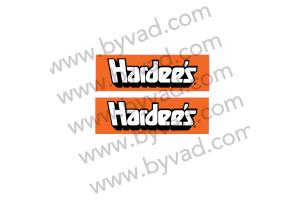 Deux autocollants Hardee's