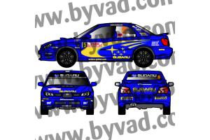 Kit déco SUBARU IMPREZA WRC Monte Carlo 2006