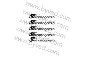 Kit 5 stickers de jante Technomagnesio