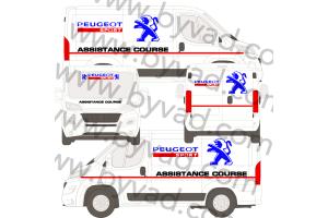 Kit déco Assistance Peugeot Sport taille L (Master, Sprinter, Boxer)