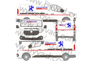Kit déco Assistance Peugeot Sport taille M (Trafic, Vito, Transporter)