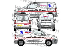 Kit déco Assistance Peugeot Sport taille S (Kangoo, Partner, Berlingo)