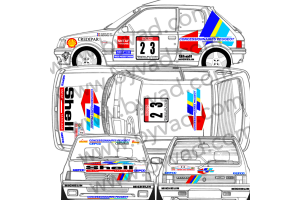Kit déco Peugeot 205 GCAP Tour de Corse 1991