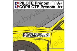 Lettrage avec fond Pilote Copilote 07