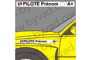 Lettrage Pilote 08