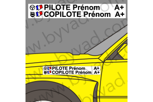 Lettrage avec fond Pilote Copilote 09