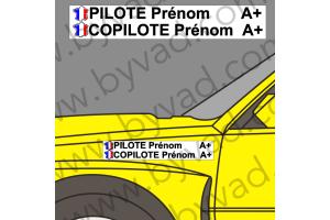 Lettrage avec fond Pilote Copilote 10