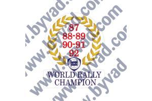 Sticker Lancia World Rally Champion