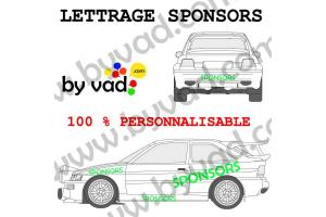 Lettrage sponsors 120 cm