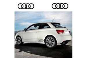 Kit 2 stickers Audi Anneaux