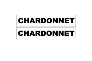 2 Stickers Chardonnet sur fond blanc