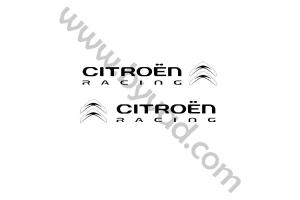 Deux stickers Citroen Racing 25 CM